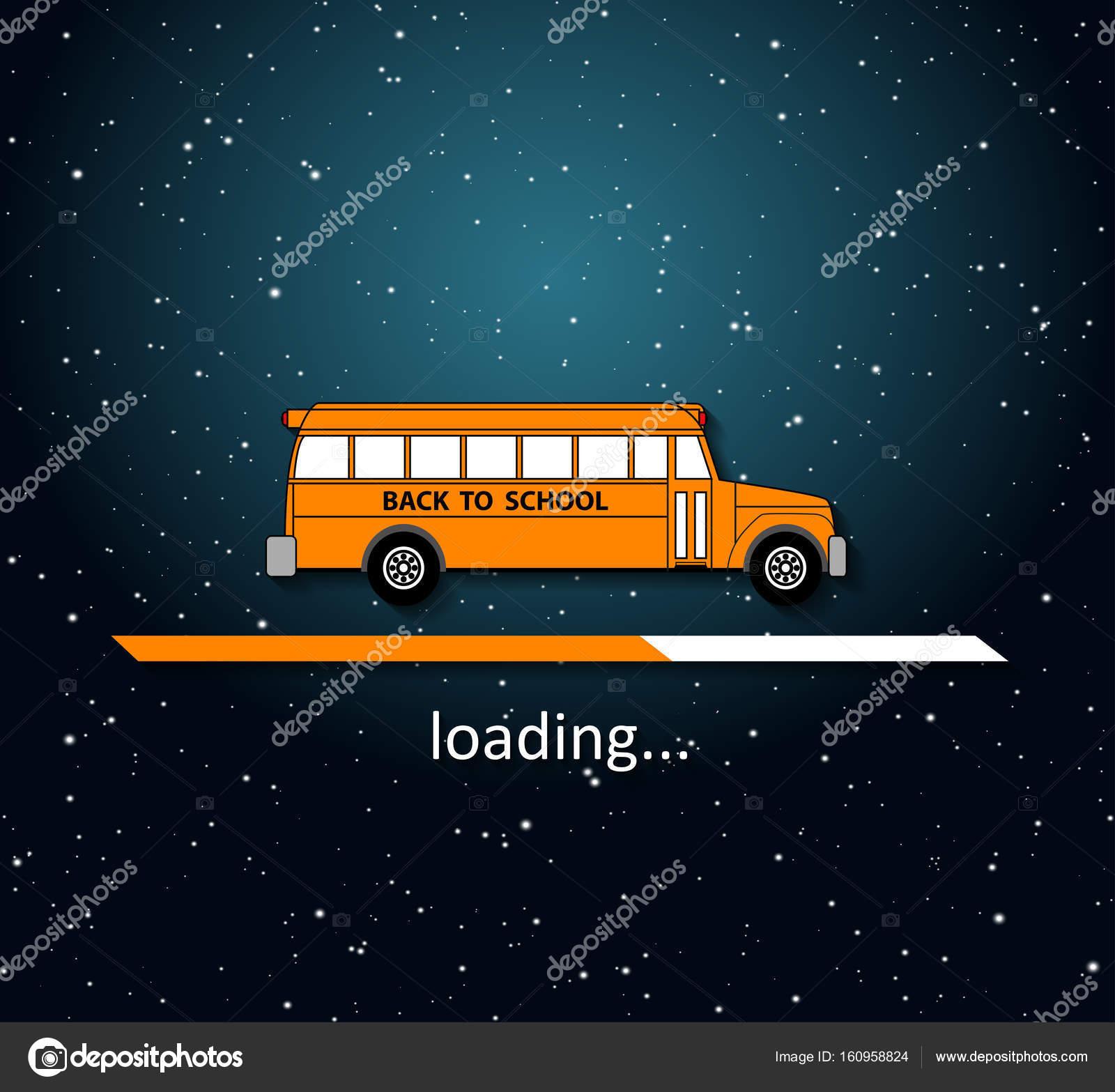 Zurück zur Schule bar - lustige Inschrift Schulbus ...
