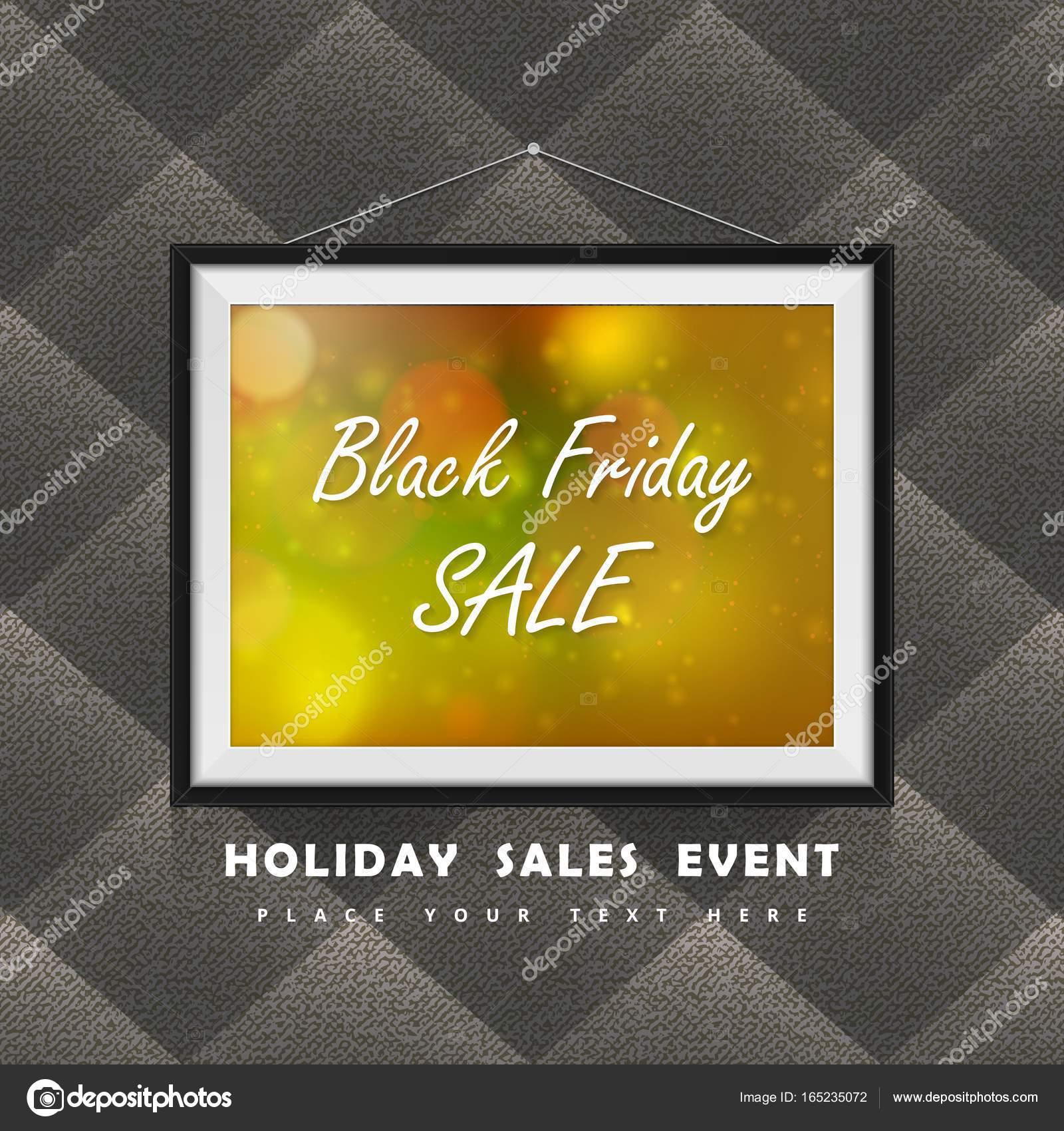 Black Friday Sale Etikett in Bilderrahmen an die Textile Kleidung ...