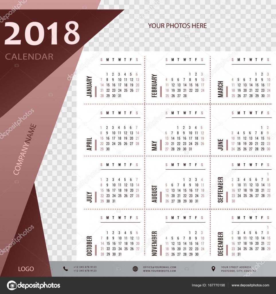 2018 Kalender, Planer, Organisator und Zeitplanvorlage für ...