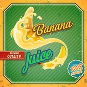 banánové ovocné šťávy nápis