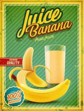 banana fruit juice banner