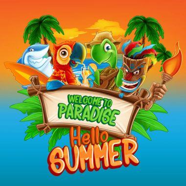 hello summer cartoon