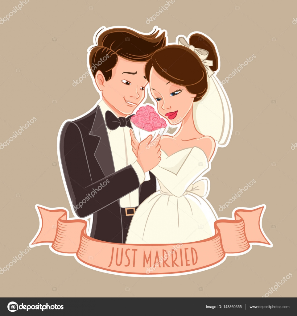 Happy Wedding Couple Stock Vector C Mollicart 148860355