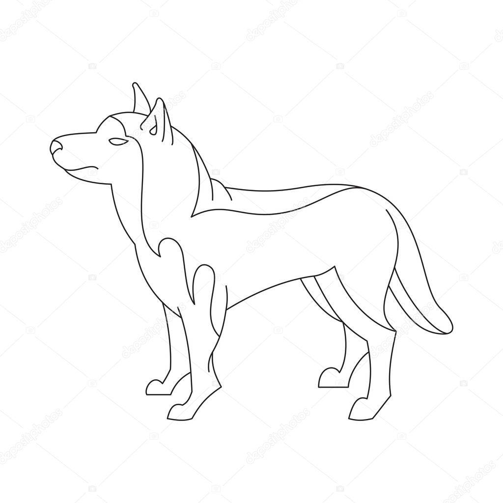 Siberian Husky Dog Stock Vector C Wonderstasy 128965132