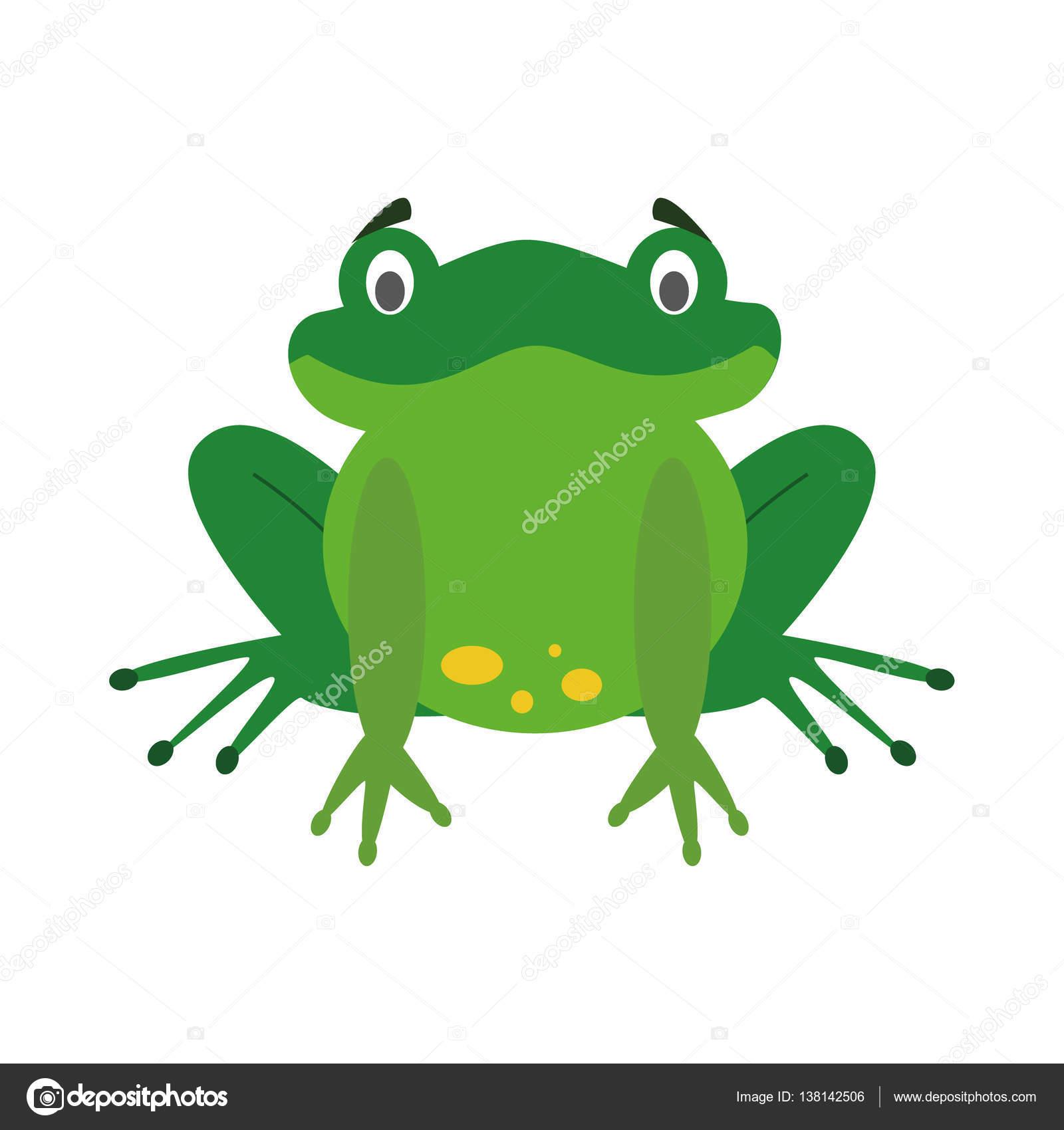 Immagine vettoriale di simpatico cartone animato rana u vettoriali
