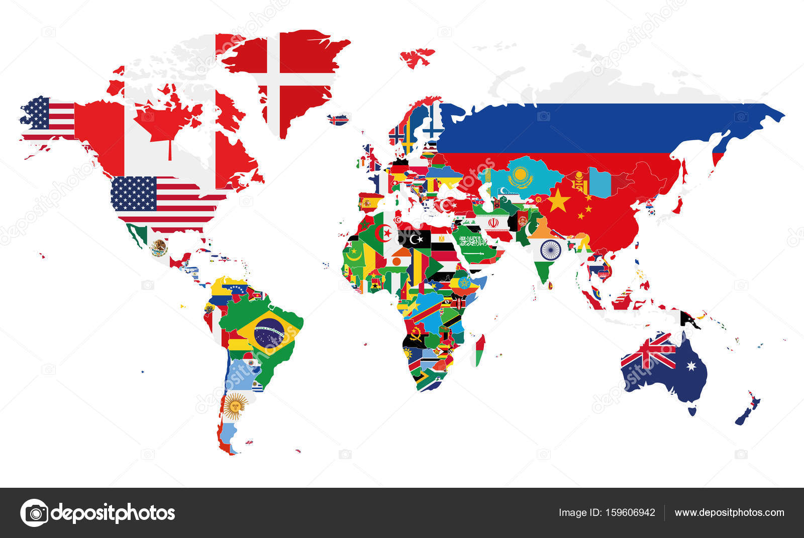 Political world map vector illustration with the flags of all political world map vector illustration with the flags of all countries editable and clearly labeled gumiabroncs