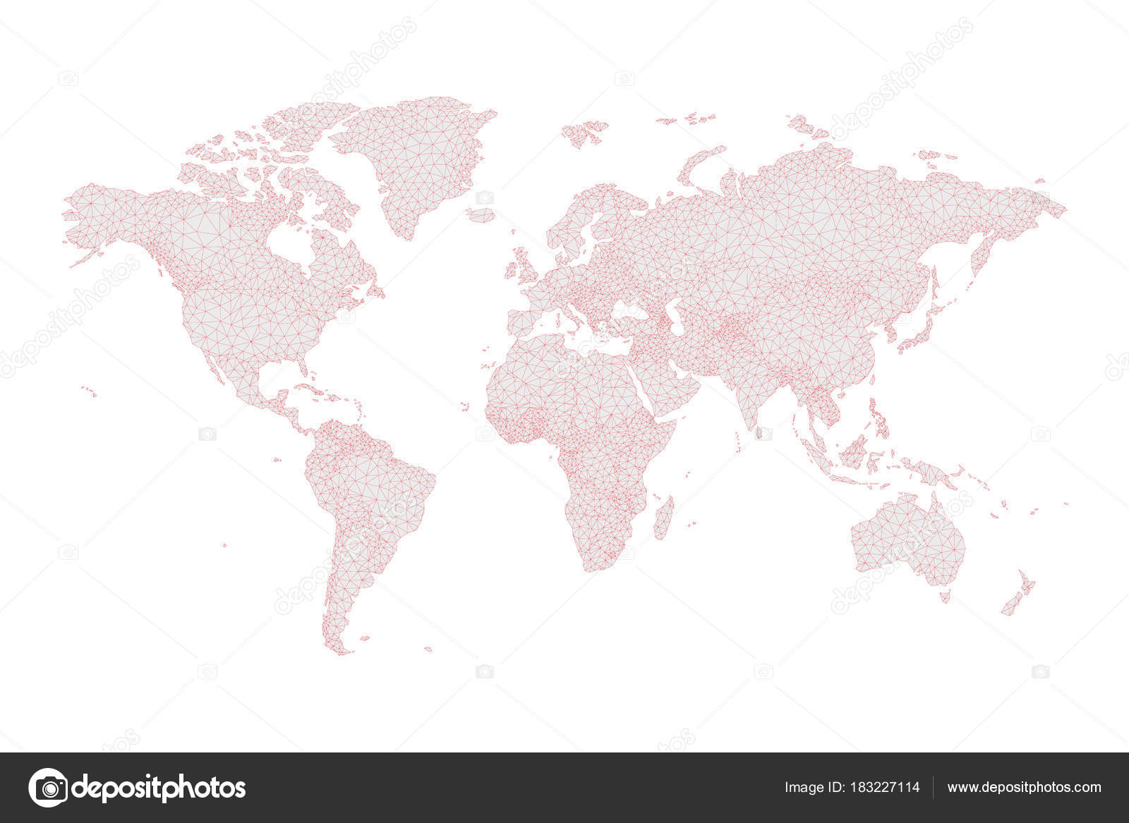 Low poly world map on grey and red stock vector asantosg 183227114 low poly world map on grey and red stock vector gumiabroncs
