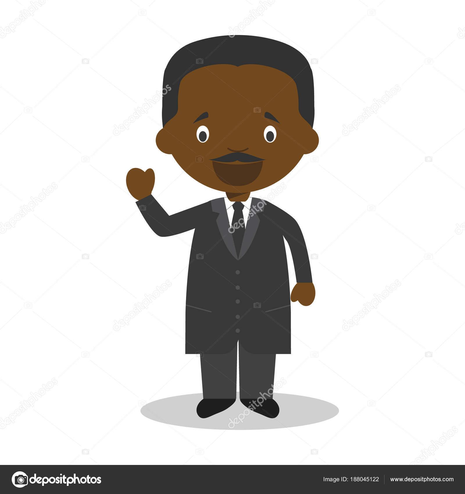 Martin Luther King Jr cartoon character. Vector Illustration. Kids ...