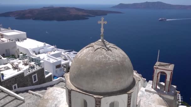 Beautiful Large Orthodox Church In Oia In Santorini In Greek Islands
