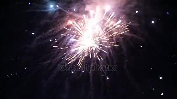 Nový rok oslava ohňostroj