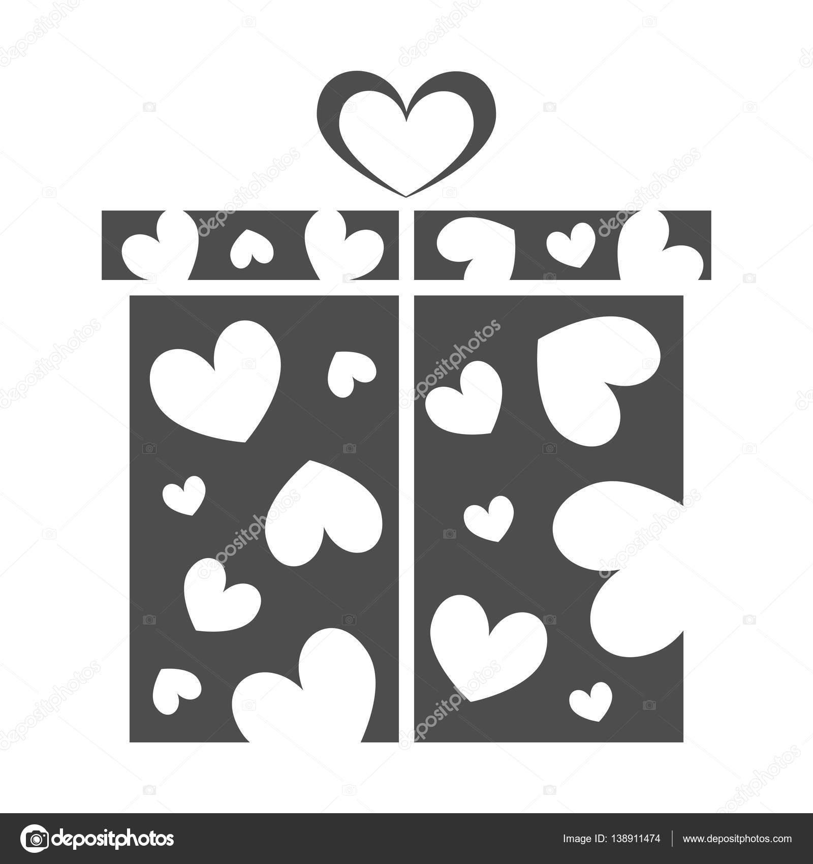 Geschenk-Box, anwesend am Valentinstag — Stockvektor © sparkusdesign ...