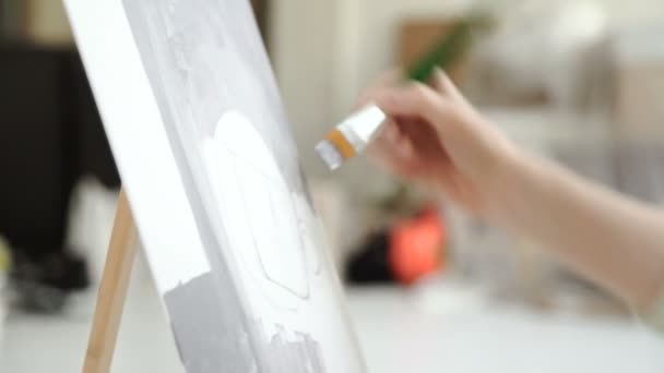 Foto di pittura artista della pittura ad olio