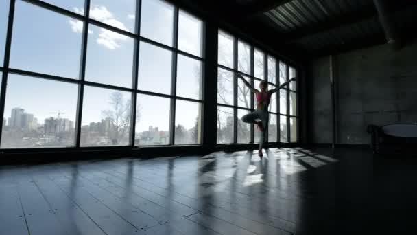 Mladá atraktivní yogi žena cvičí jógu