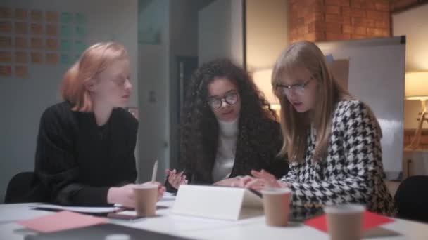Portrait Of young Business Team At Work. Bright Contemporary Small Creative Business. Casual Young People In New Creative Business Office Or Architects Company.