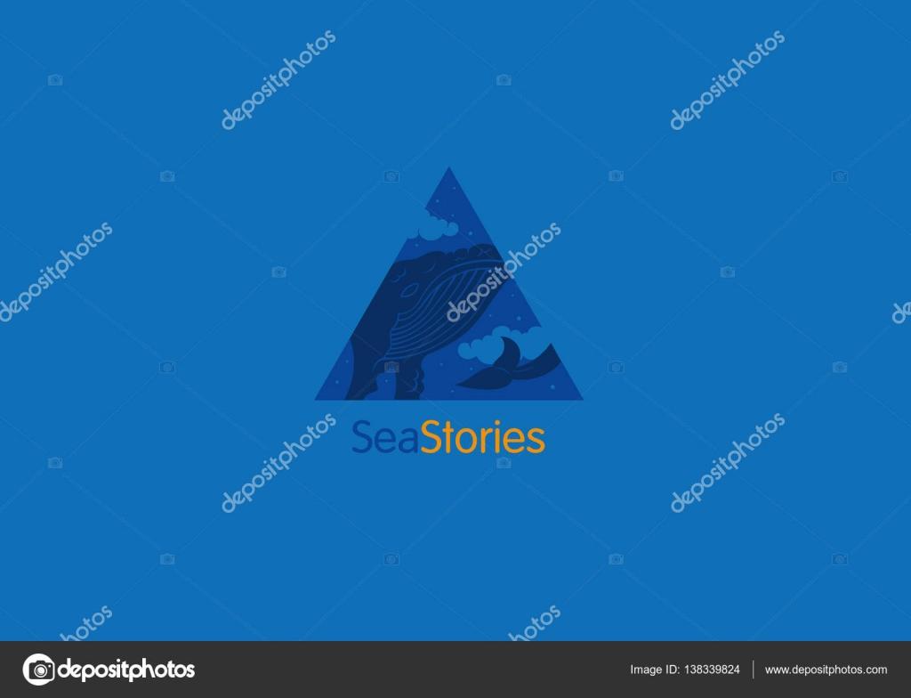 創造的なロゴ海物語雲の中のクジラ ストックベクター Kriss111