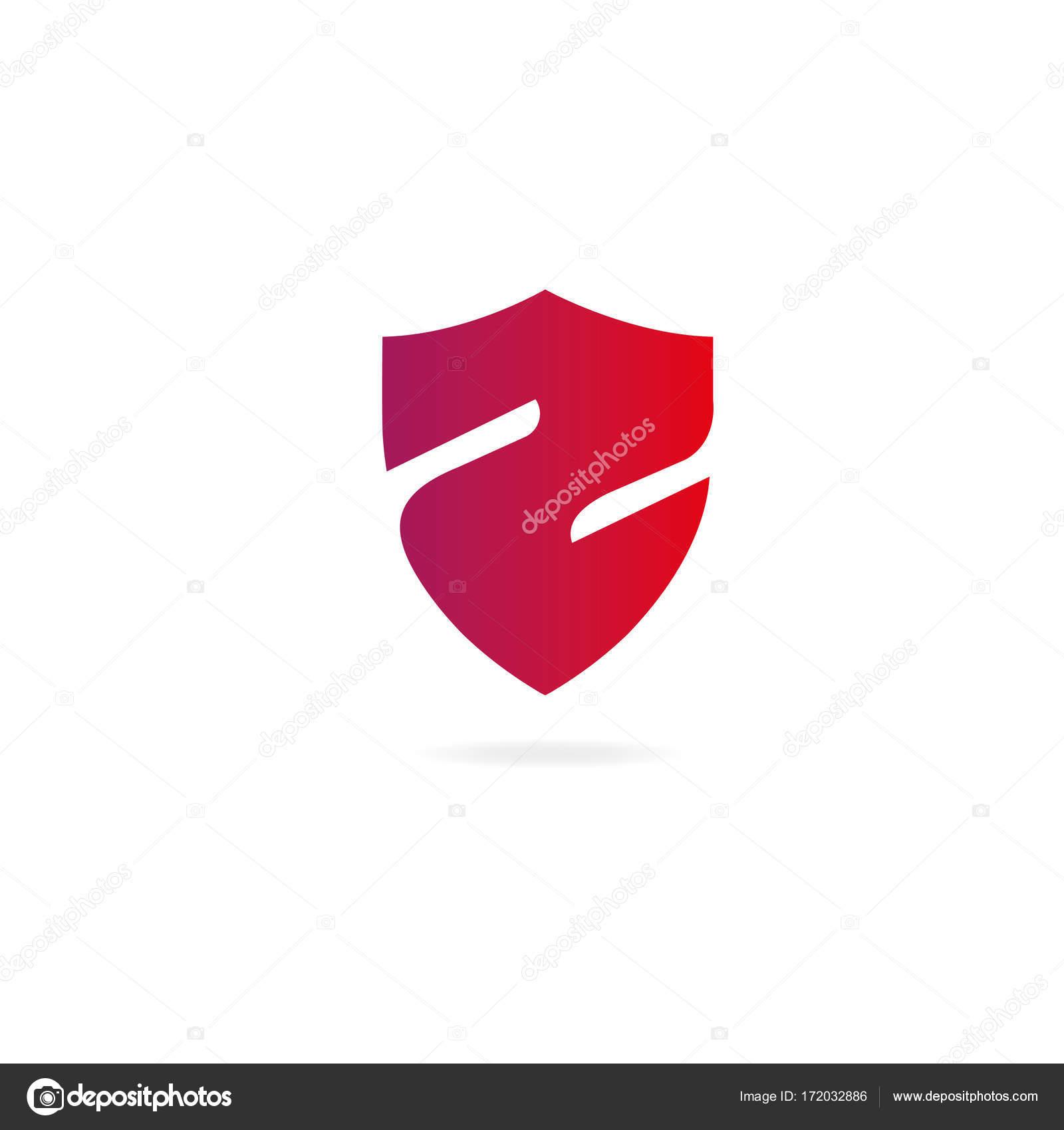 Letter Z logo. Design template elements protection, shield, gold ...