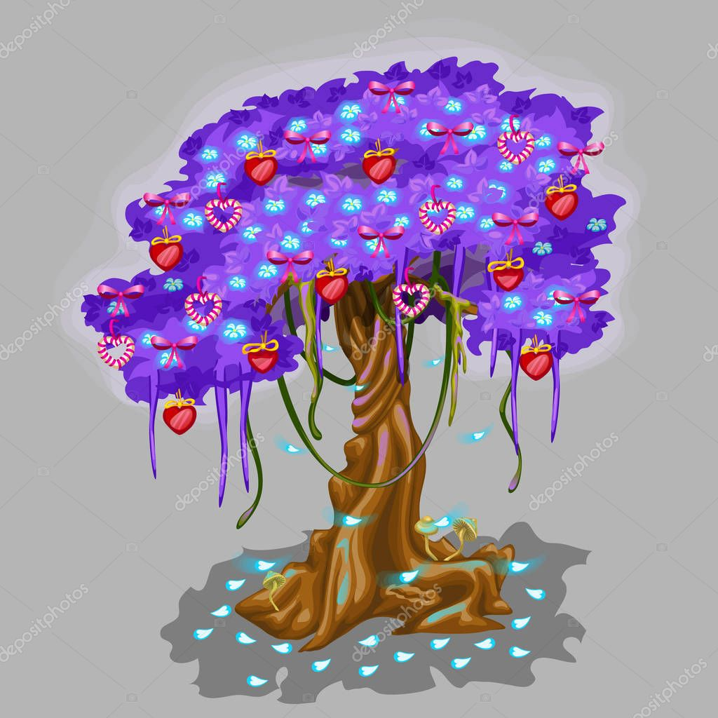 Fantastic tree with strawberry and heart toy