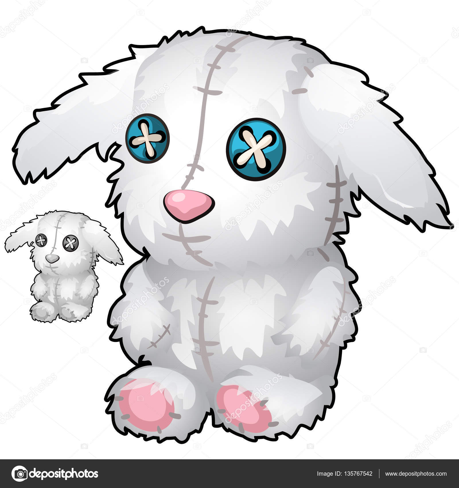 Hecho a mano Vintage conejo de peluche blanco — Archivo Imágenes ...