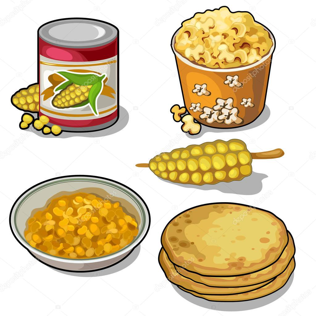 Delicious and nutritious corn set in five types