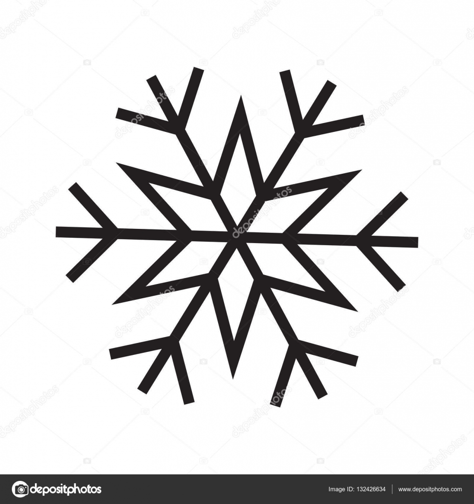 snowflake vector icon stock vector liluydesign 132426634 rh depositphotos com vector snowflake patterns vector snowflakes free download