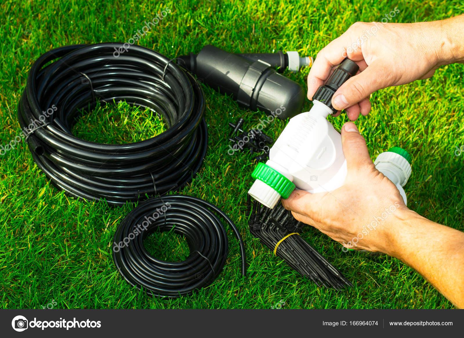 Marvelous Irrigazione Per Le Piante In Letti Automatica. Foto Dello Studio U2014 Foto Di  ArtCookStudio