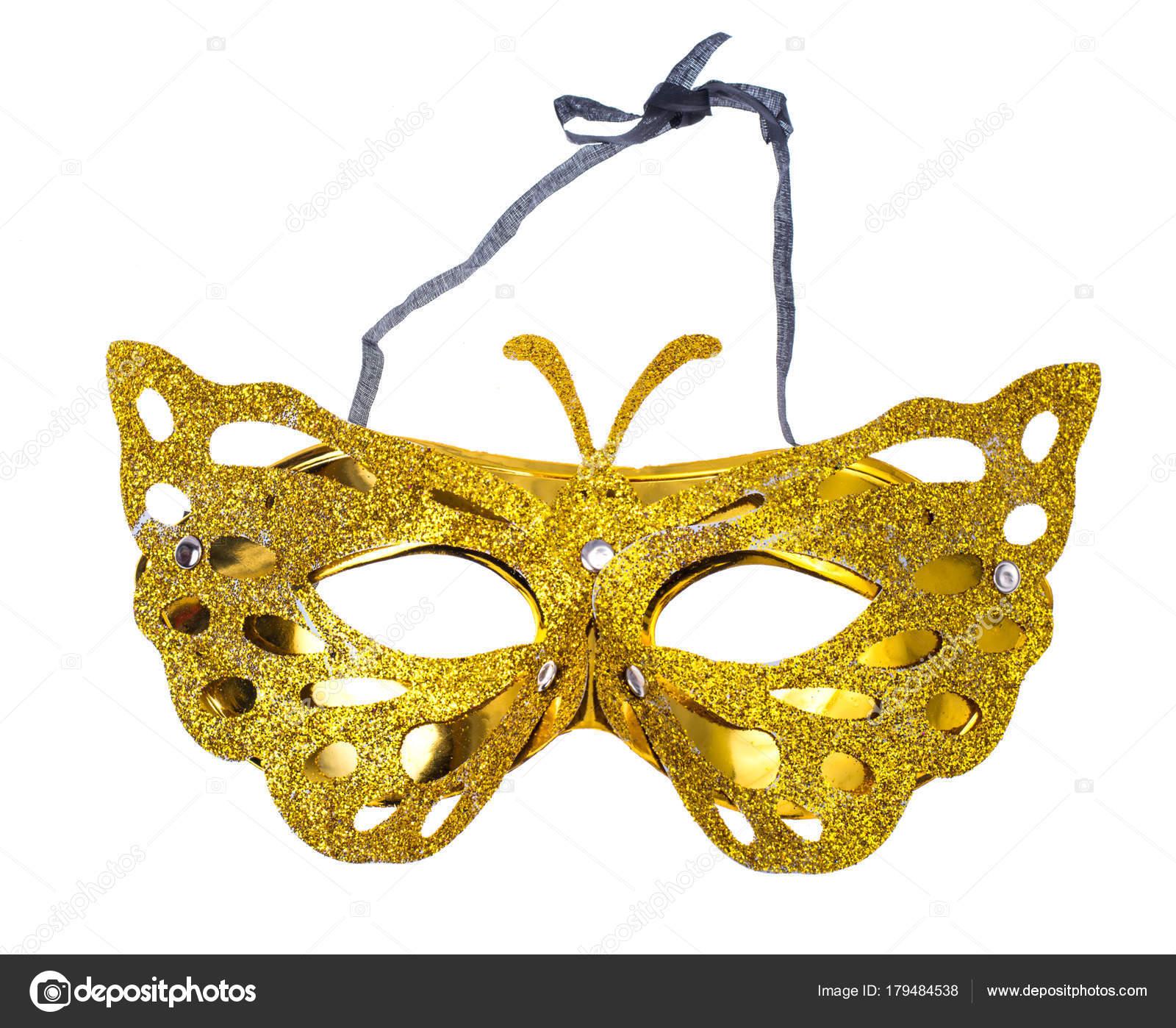 Máscara de carnaval elegante para la fiesta de Mardi Gras, aislada ...