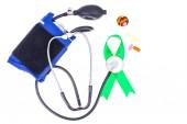 Stetoskop a pás karet, světový den zdraví