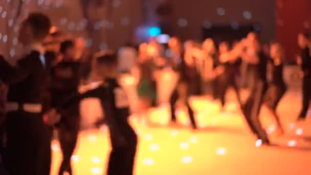 Blurred background of dancers dancing ballroom dances on ...