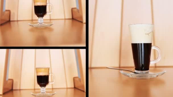 Sestřih kávy koktejl na stole