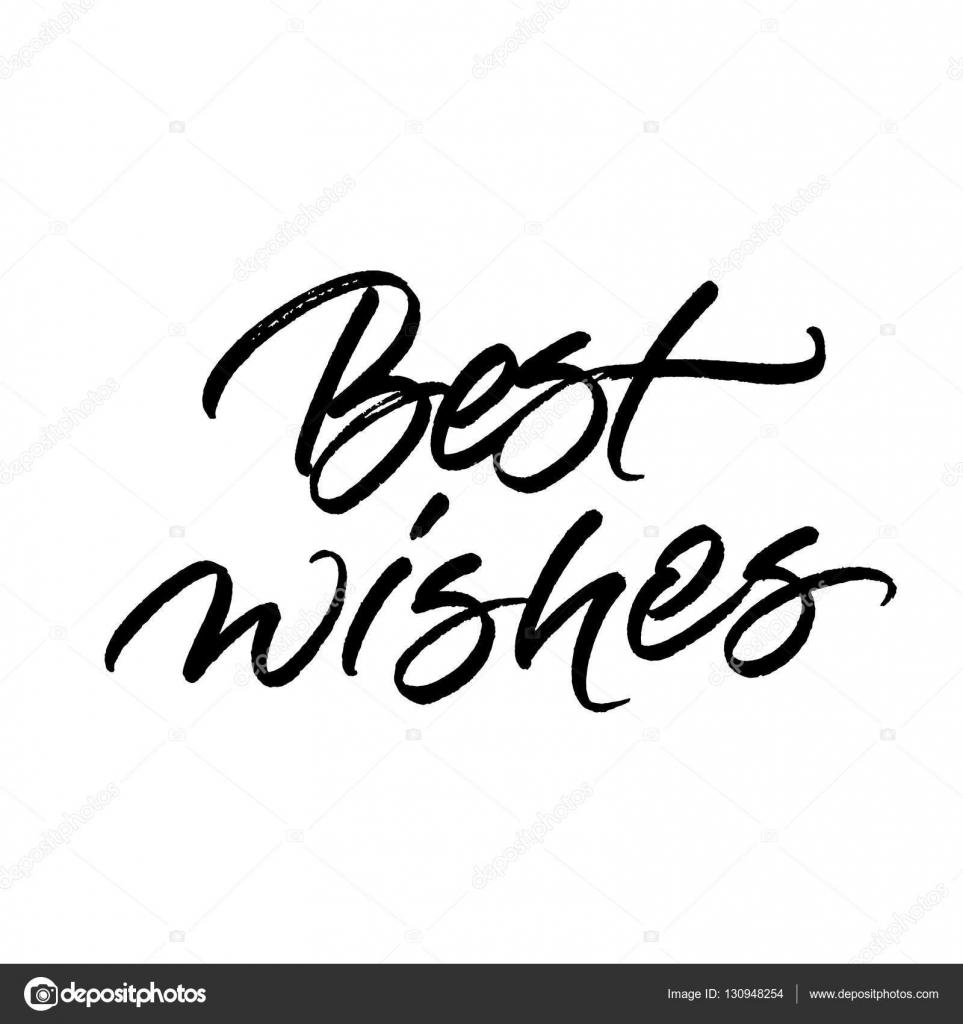 Best Wishes Brush Calligraphy Stock Vector Ugina