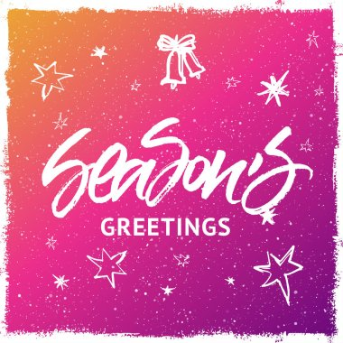 Season's Greetings Christmas and New Year greeting card