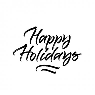 Happy Holidays brush calligraphy