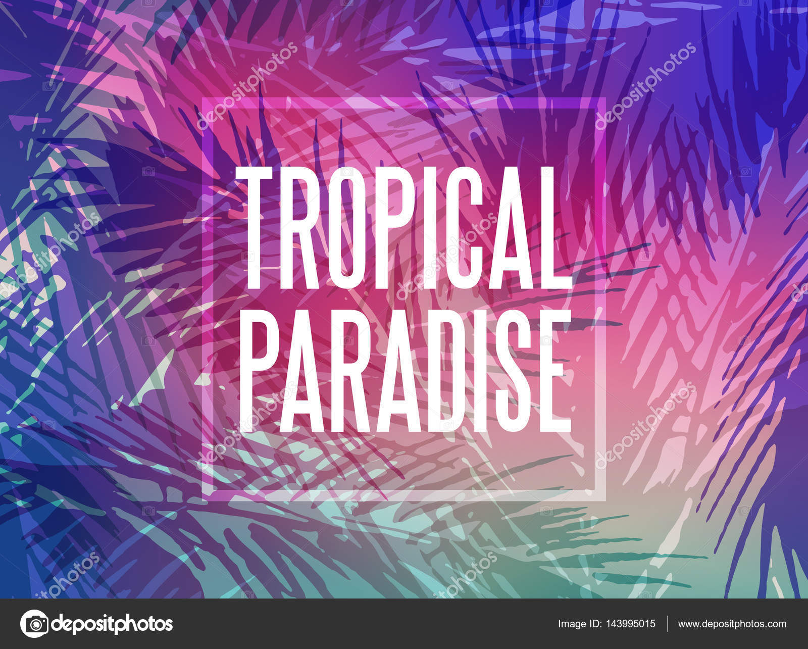 tropical paradise background — stock vector © ugina #143995015