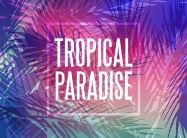 Tropical paradise background