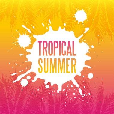 Tropikal yaz cennet arka plan noktalarla etkisi ile