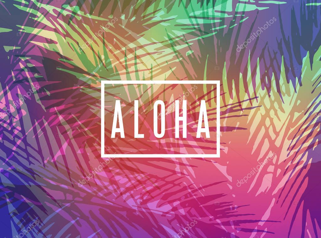 Aloha Hawaii greeting card