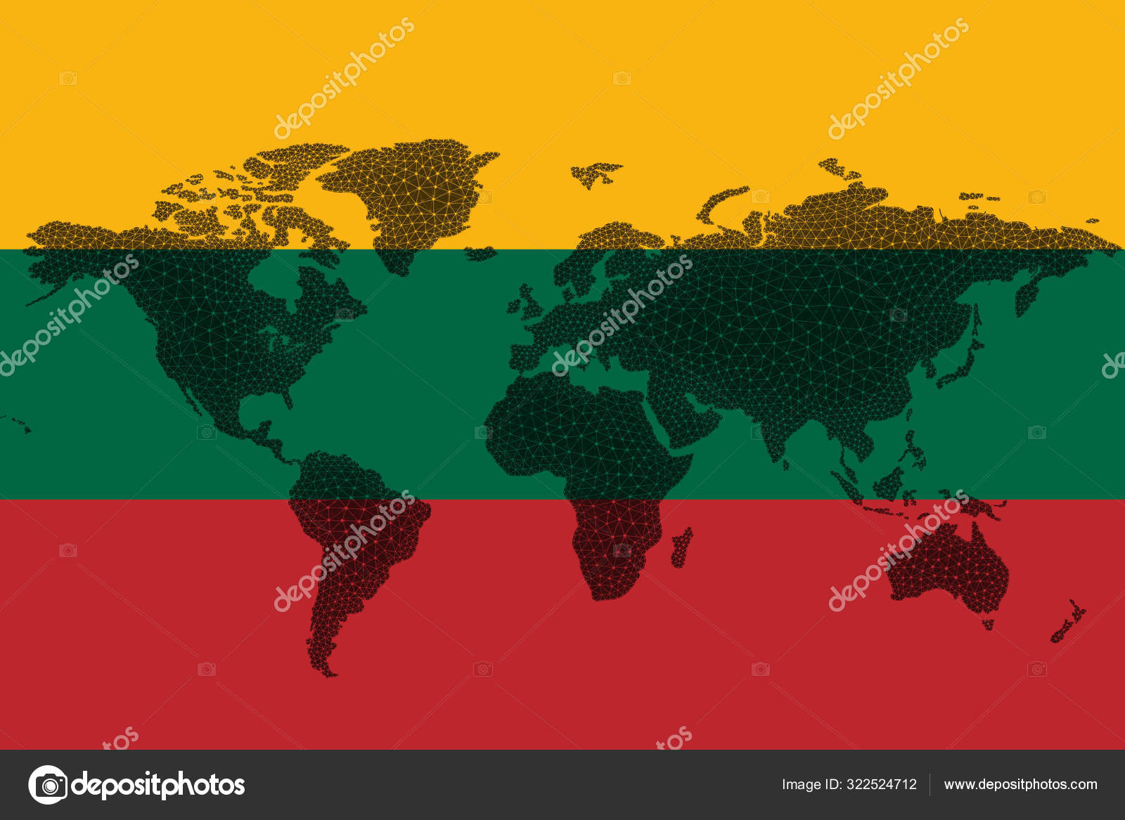 Image of: Blockchain World Map Background Flag Lithuania Cracks Lithuania Cryptocurrency Concept Stock Photo C Magri1 322524712