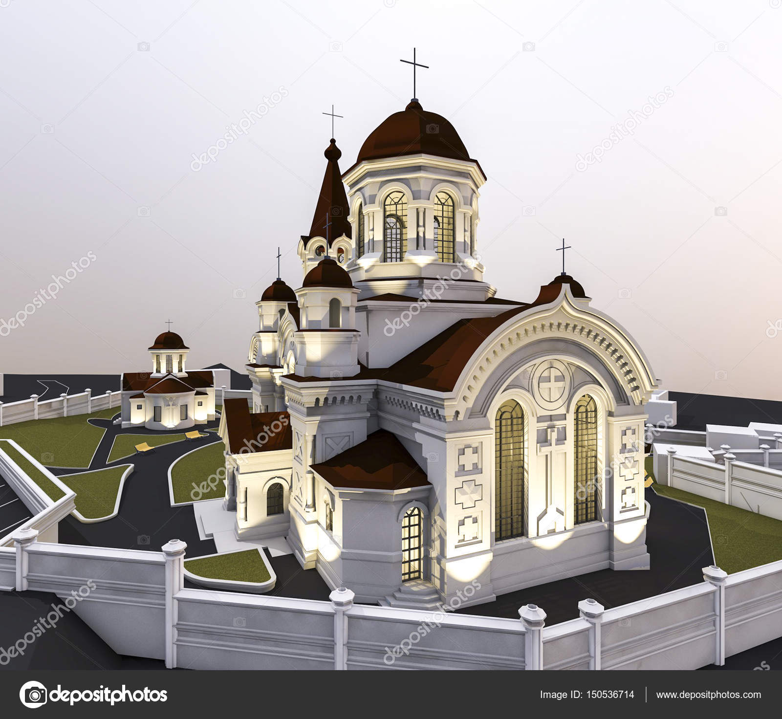 教会のイラスト ストック写真 Alesmunt 150536714