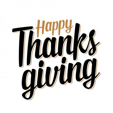 Thanksgiving day lettering.