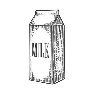 Box carton package with text milk.