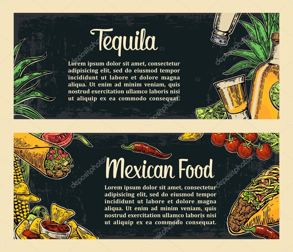 Mexican Traditional Food Restaurant Menu Template With Spicy Dish