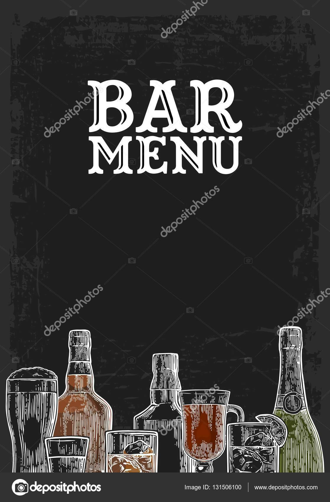 mod le pour bar boisson alcool menu image vectorielle denispotysiev 131506100. Black Bedroom Furniture Sets. Home Design Ideas
