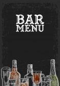 Fotografia Modello per Bar bevanda dellalcool dal menu