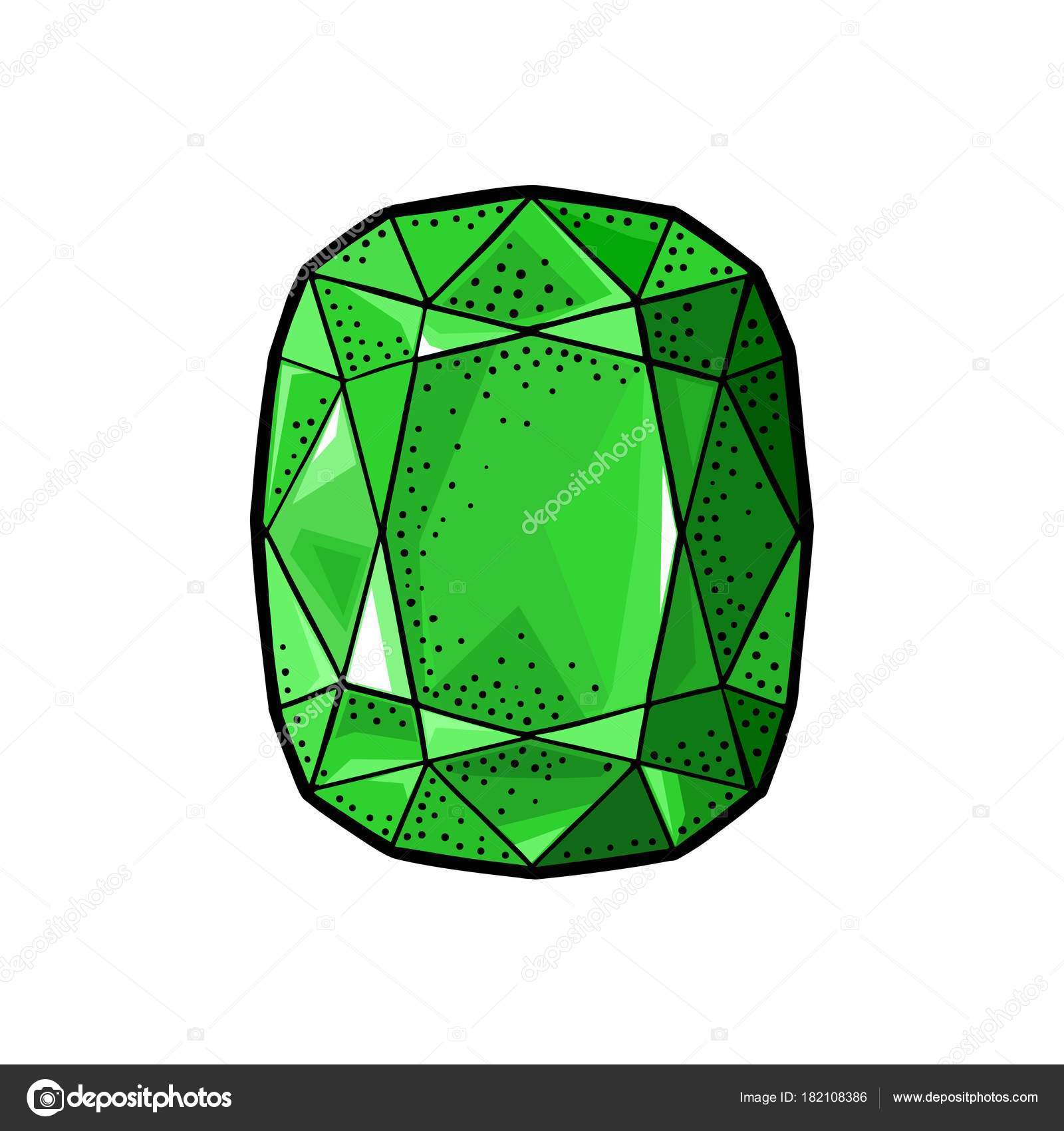 shiny vector hd royalty sign free emerald image stock green precious heart stone