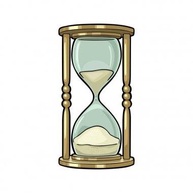 Retro hourglass. Vector vintage engraving
