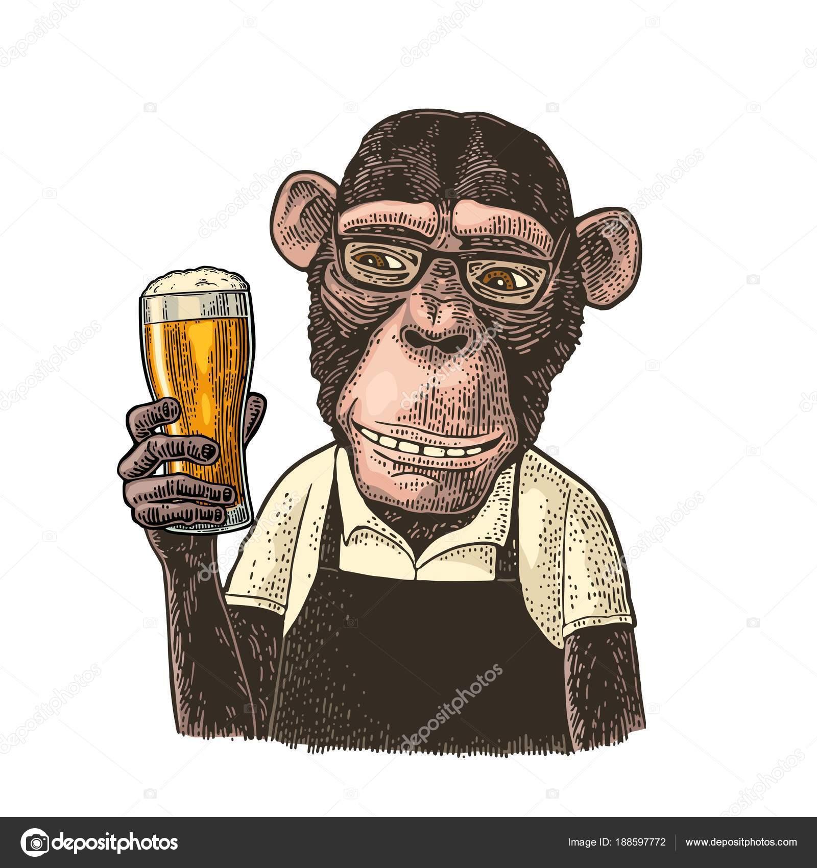 estilo actualizado última tecnología bien baratas Los monos vestidos con delantal con cerveza de cristal ...