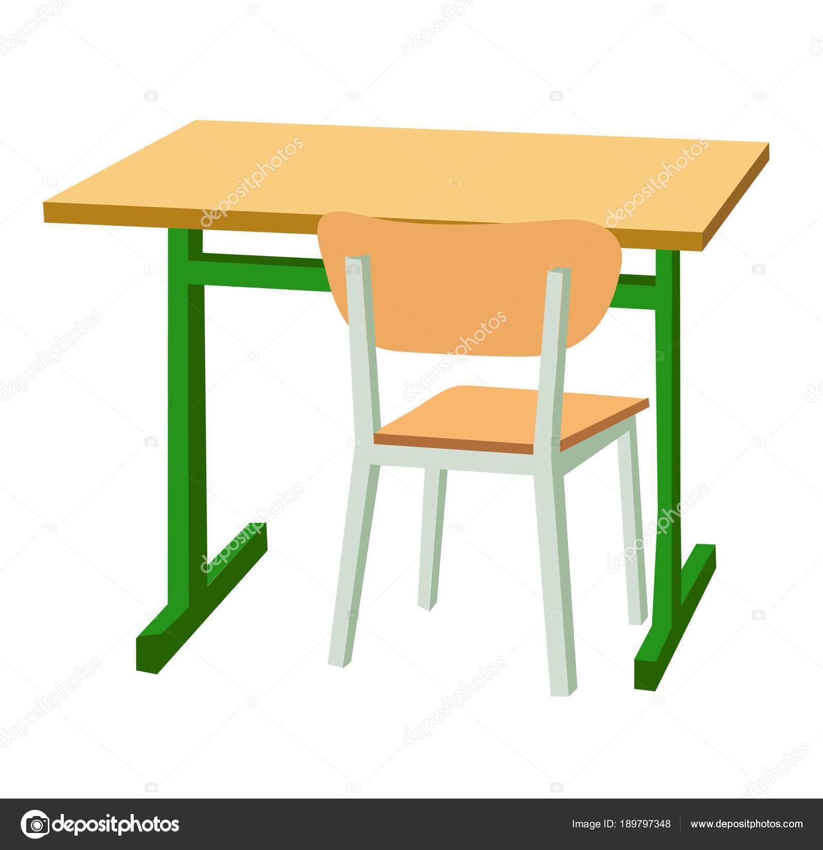 学校机椅子 ストックベクター Denispotysiev 189797348