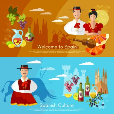 Spain banners traditions and culture spanish