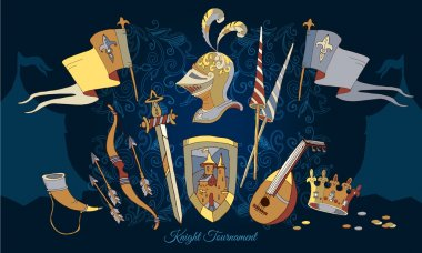 Knight Tournament medieval frame