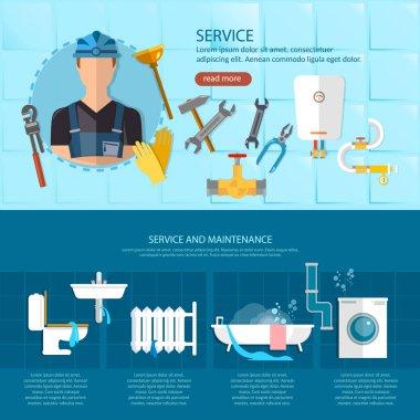 Plumbing repair service,professional plumber, different tools